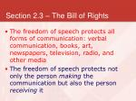 section 2 3 the bill of rights5