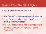 section 2 3 the bill of rights9