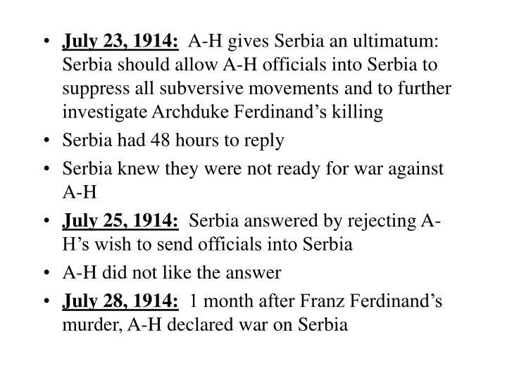 July 23, 1914: