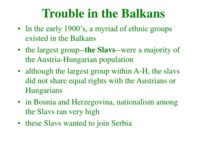 Trouble in the balkans