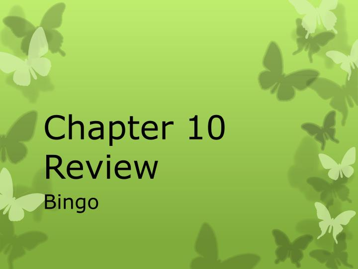 chapter 10 review n.