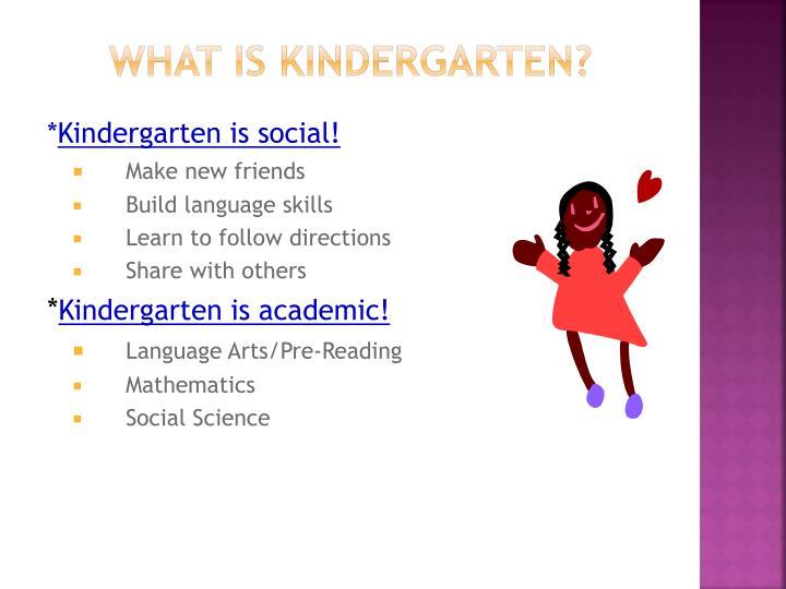 What is kindergarten