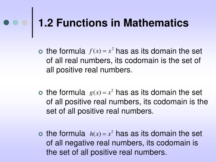 1 2 functions in mathematics