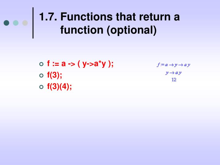 1.7. Functions that return a