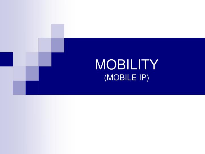 mobility mobile ip n.