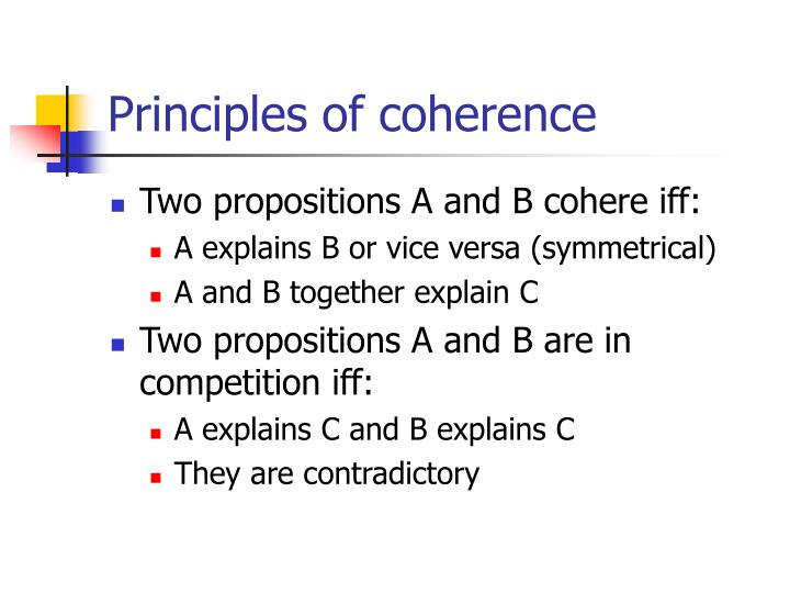 Principles of coherence