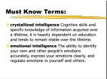 must know terms