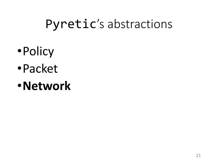 Pyretic