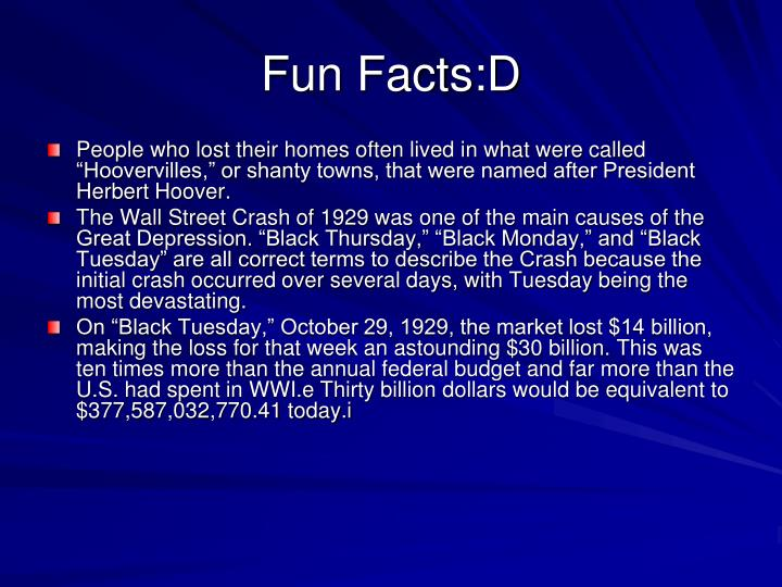 Fun Facts:D