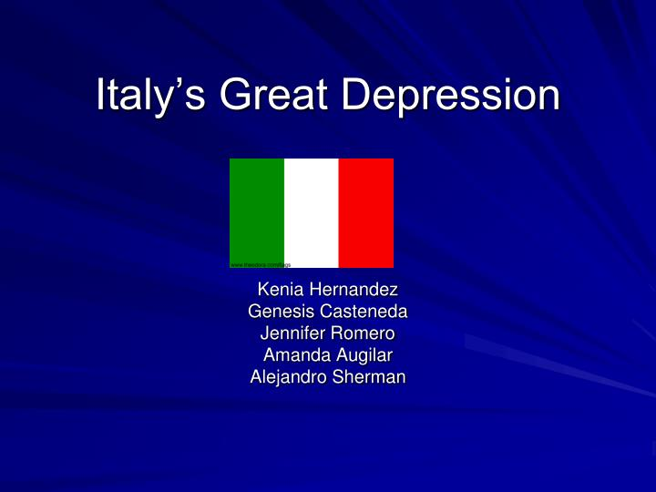 Italy s great depression