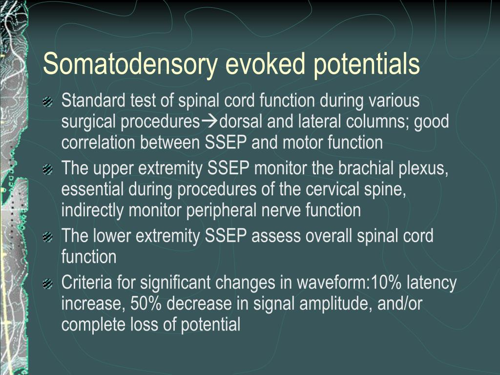 PPT - Monitoring of motor evoked potentials in C-spinal surgery