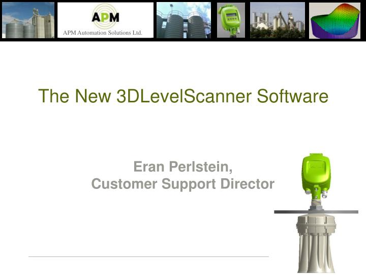 the new 3dlevelscanner software
