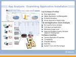 app analysis examining application installation