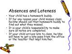 absences and lateness