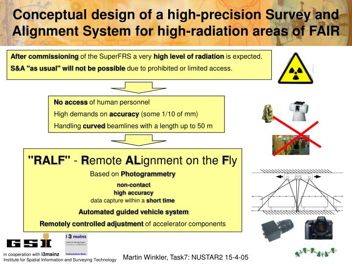 Conceptual design of a high-precision Survey and Alignment System for high-radiation areas of FAIR