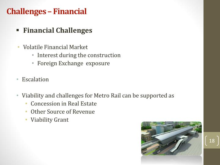 Challenges – Financial