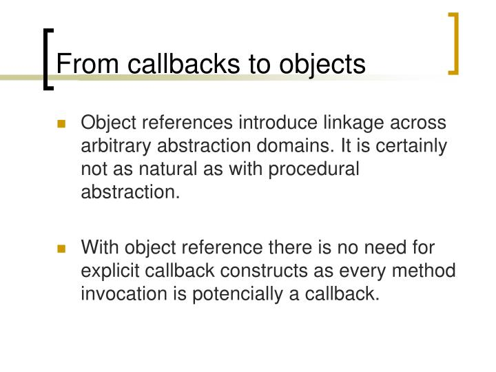 From callbacks to objects