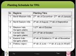 planting schedule for tps