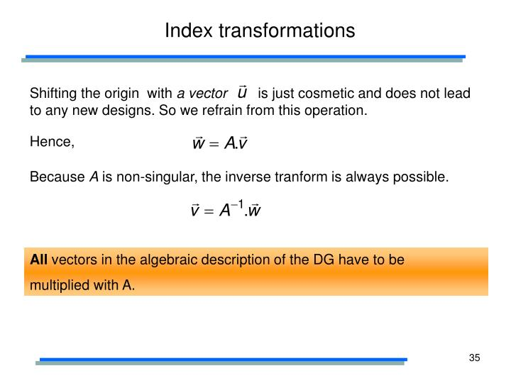 Index transformations