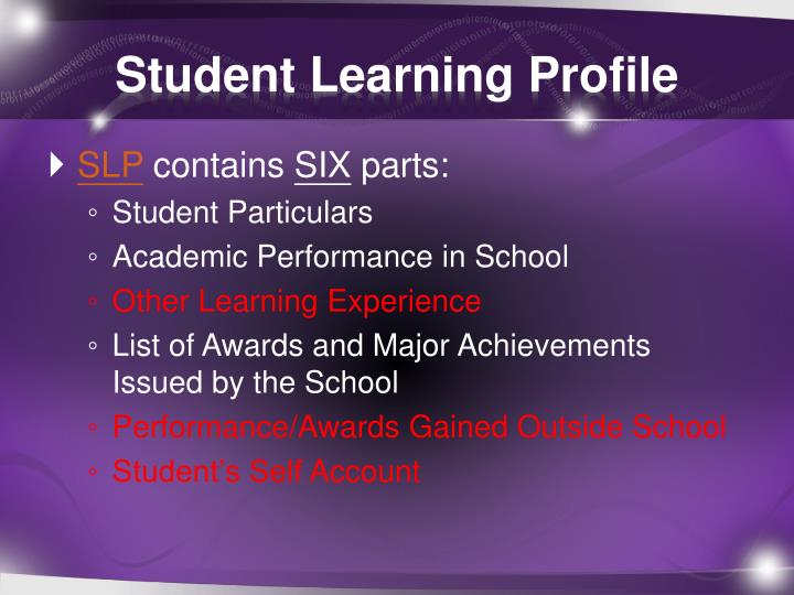 student learning profile n.