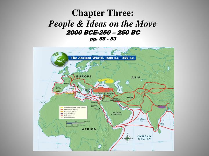 Chapter three people ideas on the move 2000 bce 250 250 bc pg 58 83