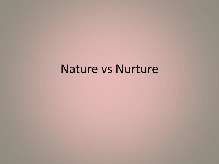 essay on nature vs science Nature vs nurture nature influenced each person in terms of development of their appearances and certain personality (psych essay nature vs nurture.