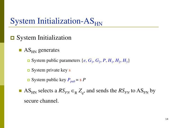 System Initialization-AS