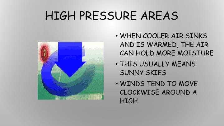 High Pressure Areas