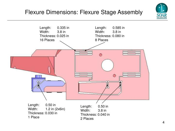 Flexure Dimensions: Flexure Stage Assembly