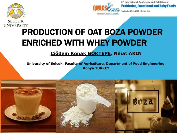 Production of oat boza powder enriched with whey powder