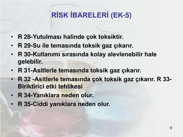 RİSK İBARELERİ (EK-5)
