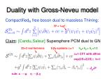 duality with gross neveu model