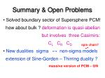 summary open problems