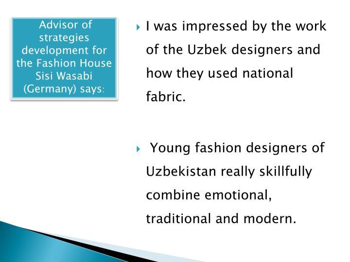 Advisor of strategies development for the Fashion House