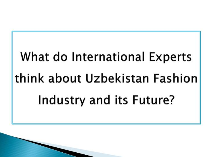 What do International Experts think about Uzbekistan Fashion Industry and its Future?