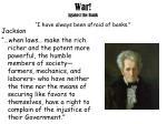 war against the bank i have always been afraid of banks