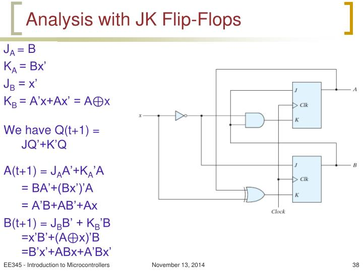Analysis with JK Flip-Flops