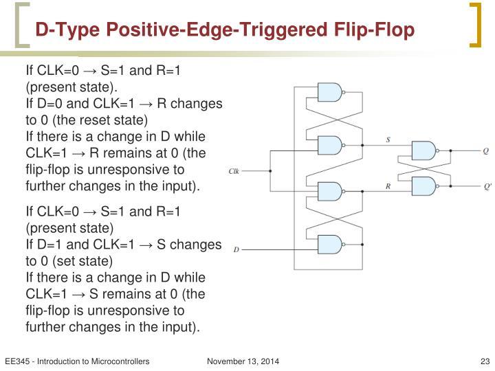 D-Type Positive-Edge-Triggered Flip-Flop