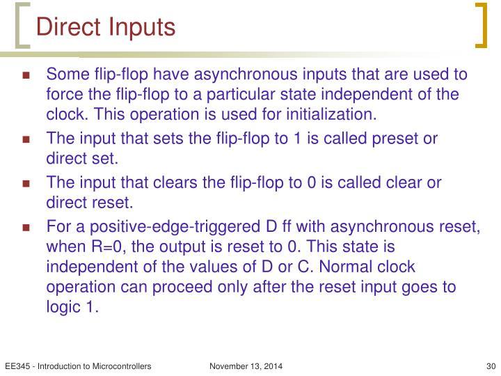 Direct Inputs