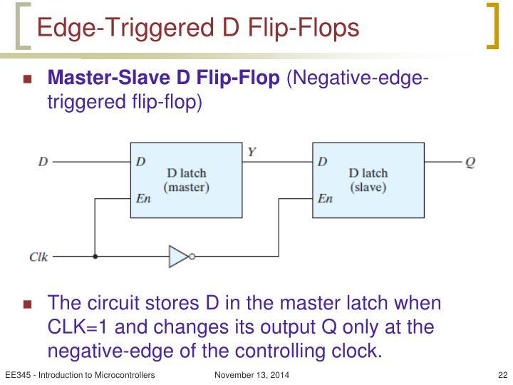 Edge-Triggered D Flip-Flops