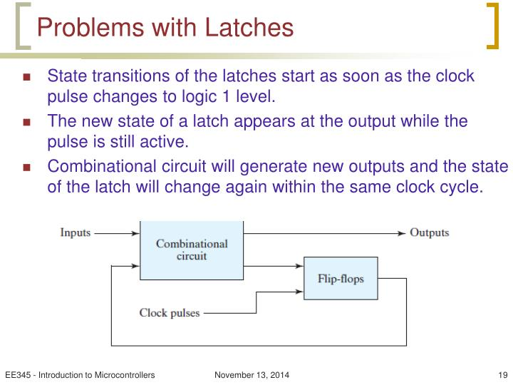 Problems with Latches