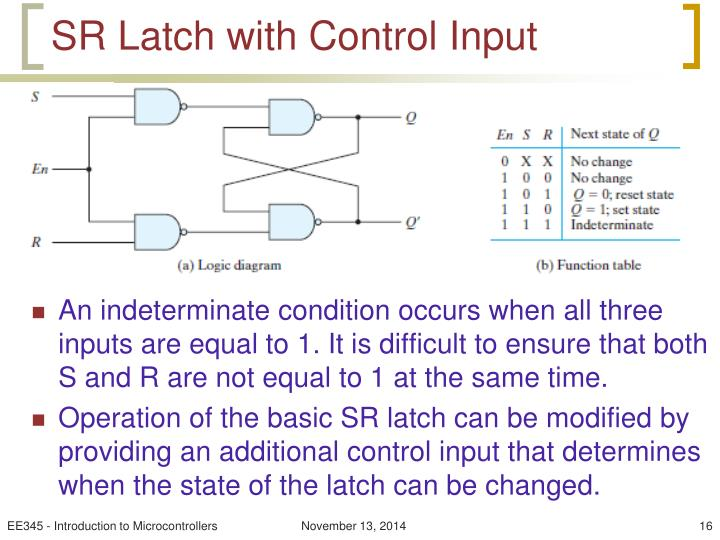 SR Latch with Control Input