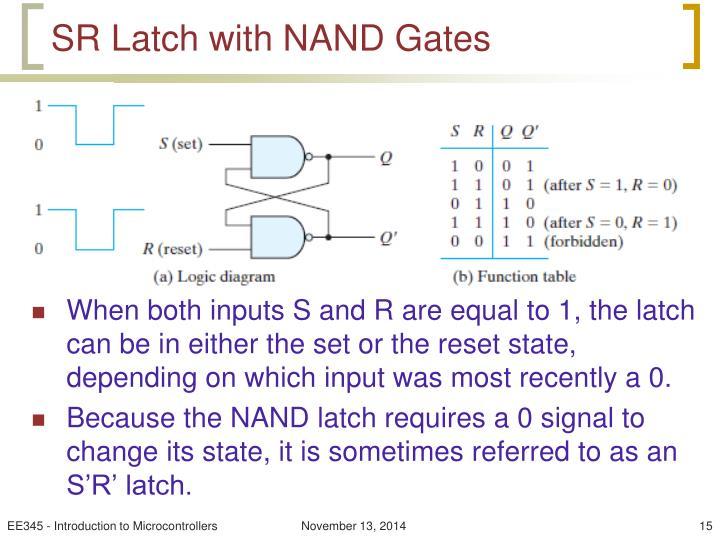 SR Latch with NAND Gates