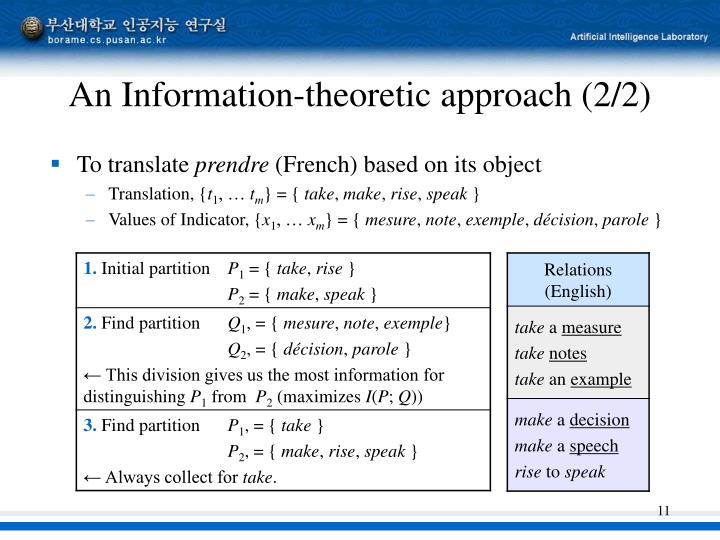 An Information-theoretic approach (2/2)