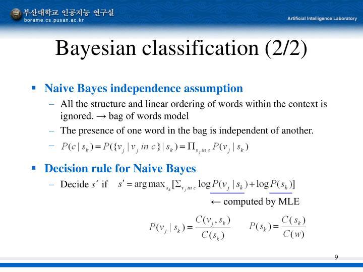 Bayesian classification (2/2)
