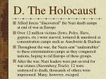 d the holocaust
