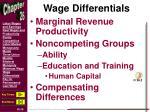 wage differentials1