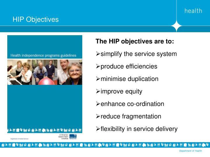 HIP Objectives