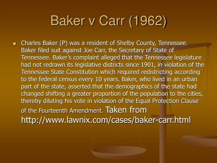 Baker v Carr (1962)