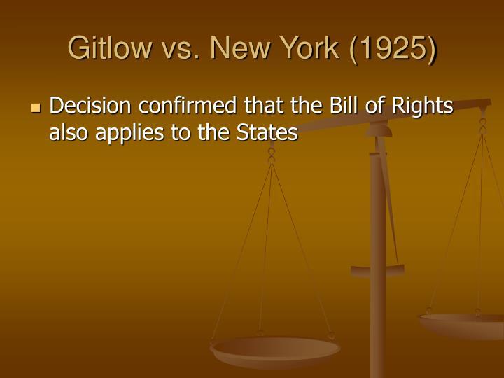 Gitlow vs. New York (1925)